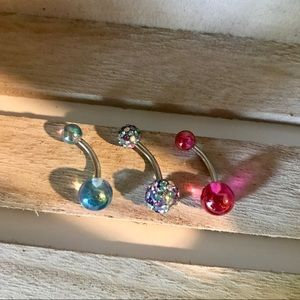 Jewelry - 🆕Brand new 3 pack of belly button rings